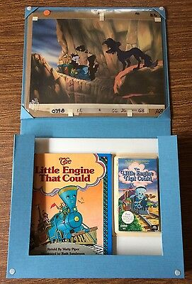 Little Engine That Could (2) Production Cels w/ Book & VHS NIB Universal Studio