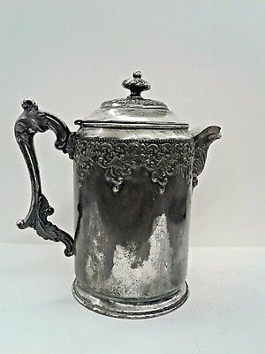 Forbes Silver Company Victorian Silverplate Water Tankard Pitcher