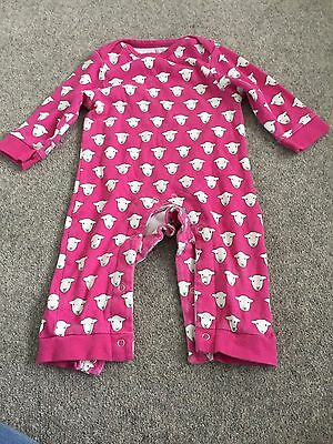 Herdy Sheep Girls  All In One Baby Grow 6-12 Months