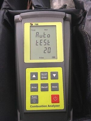TPI 708 Test Product Combustion Efficiency Analyzer Calibrate