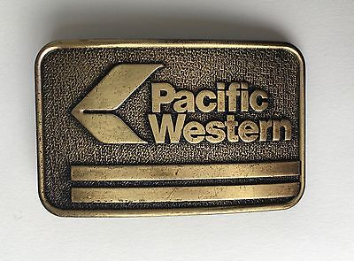 Pacific Western Airlines PWA Brass Belt Buckle