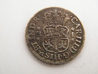 1763 One Reale Coin from Peru