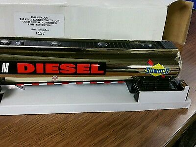 New 1998 Sunoco Talking Tanker Toy Truck Gold Serial Numbered Limited Edition
