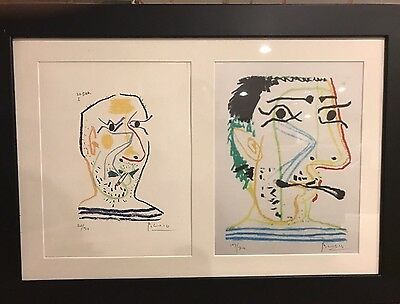2 In 1 Hand Signed Picasso Limited Edition Lithographs; Framed ONLY 20! OFFER??