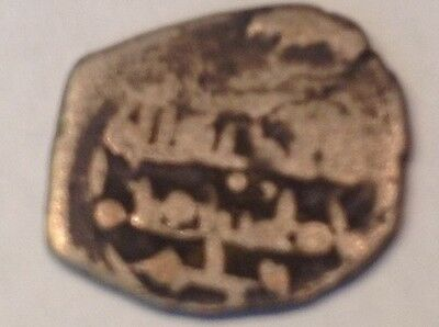 Authentic Islamic Spanish 1000-1200 AD Silver coin Metal detector finds D17