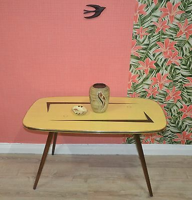 VINTAGE FIFTIES COFFEE TABLE 50 Piece Storage Space 2Tone Pattern Mid Century