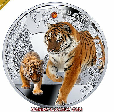 Niue Island $1 - Endangered Animal Species - Siberian Tiger - Poland Mint 2014