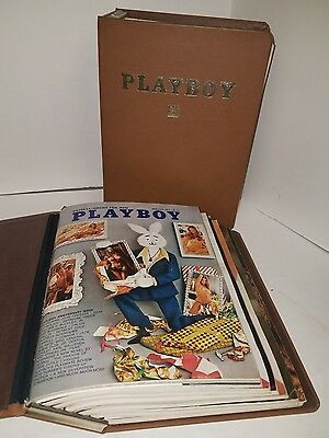 Playboy Magazine 1973 Full Year in 2 Brown Binders with Centerfolds 12 issues