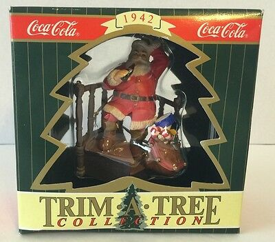 Coca Cola Christmas Ornament Trim-A-Tree Collection 1942  THEY REMEMBERED ME