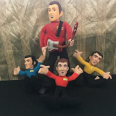 The Wiggles Set of 4 Character Plush Dolls