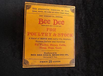 Old Antique Vintage Collectible Farm Animal Livestock Ad Advertising Feed Box