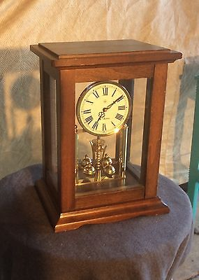 """Seth Thomas Mantle Clock Made In Germany, Wood Case, 12"""""""