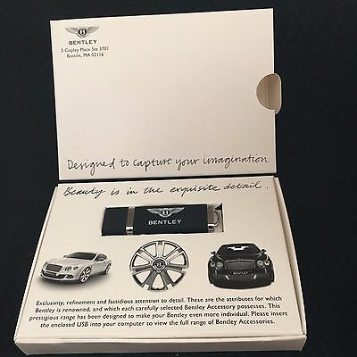 Bentley Accessories Dealer Promotional Usb Flash Drive 2011