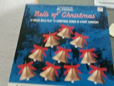 Mr. Christmas Bells of Christmas Lighted Musical Brass Bells New in Box