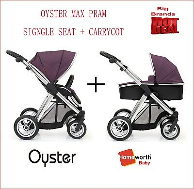 NEW Oyster Max Single Seat + Carrycot Vogue Teal Pram Stroller Travel System AU