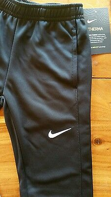 Nike Dri-fit Therma Fabric Black Athletic Pants Boys Size 5 (4-5 yrs) MSRP $38
