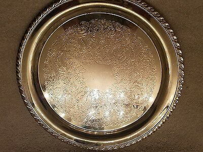 ONEIDA Silver Plate Engraved Serving Tray Platter