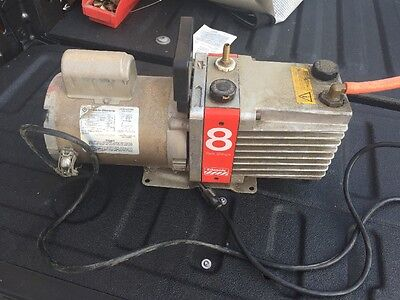 Edwards E2M8 Two Stage 8 Rotary Vane High Vacuum Pump