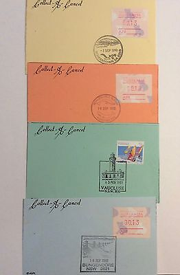Australia Collect a Cancel Cards with Pictorial Postmarks, Framas etc x86 Cards!