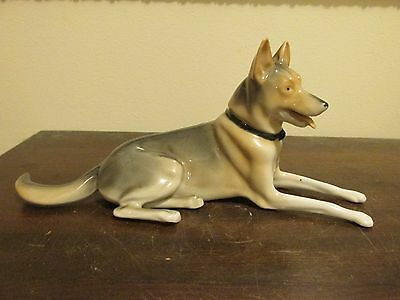Vintage Germany Shepherd Dog Porcelain Figurine