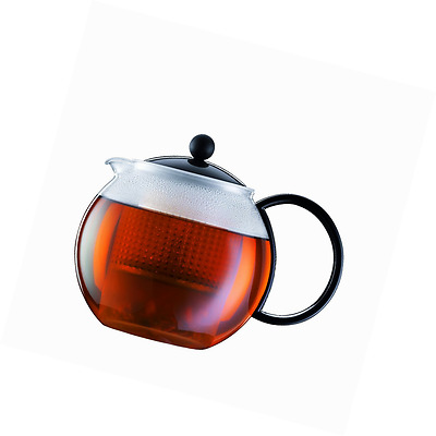 Bodum ASSAM Tea Maker (Plastic Strainer, Plastic Lid, 1.0 L/34 oz) - Black