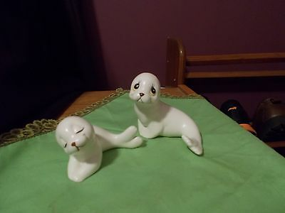 Vintage Two Piece Set Mama Seal with Baby Seal by Oxford Made in Mexico