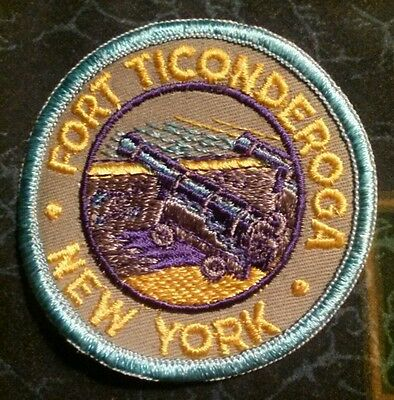 Vintage Fort Ticonderoga NEW YORK Sew on Souvenir Embroidered Badge NEW Patch