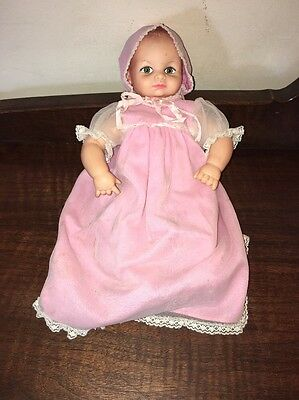 """Doll 14"""" Vinyl Rubber Cameo no Squeaker Green Eyes Closed Mouth"""