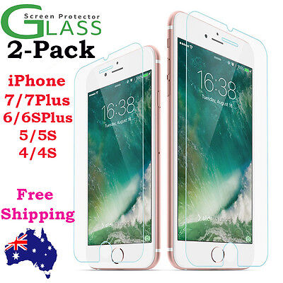 2x Scratch Resist Tempered Glass Screen Protector for Apple iPhone 7 6s 6 Plus 4