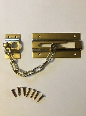 "3"" Securit S1637 Chrome Plated Door Bolt And Security Chain 80mm"
