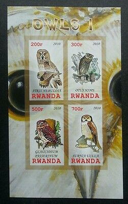 Rwanda Owl 2010 Bird Of Prey Fauna (miniature sheet) MNH *imperf