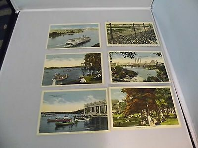 6 Vintage Twin Cities Minneapolis St. Paul MN Postcards 1 cent stamp State Fair