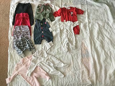 Bulk 10 Items Baby Girl Size 000  0 To 3 Months