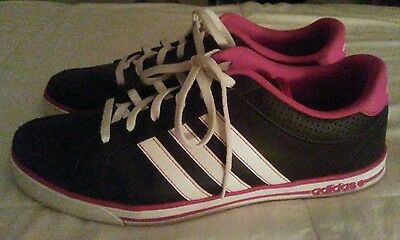 Adidas 9 Neo Label VS Pace Black White Pink Women's Sneakers Trainers