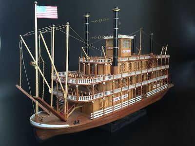 Model Ship MISSISSIPPI 1870 Scale 1/100 Steamboats Wood Model Ship Kit