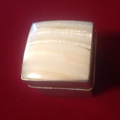 STERLING Silver Handmade Antique Pill Box 1900-1940