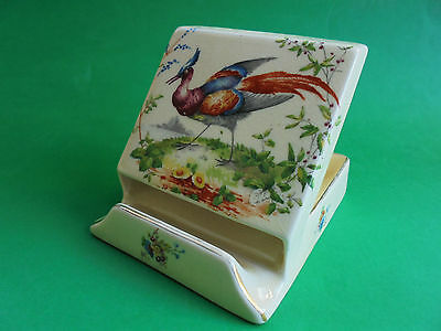 Antique Royal Doulton Desk Top Match & Cigarette Dispenser Asiatic Pheasant