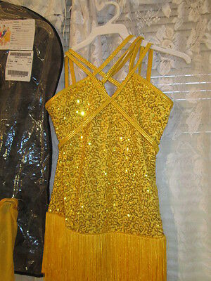 Pageant Dance Costume-Latin Jazz flapper dress up sequins fringe Curtain Call