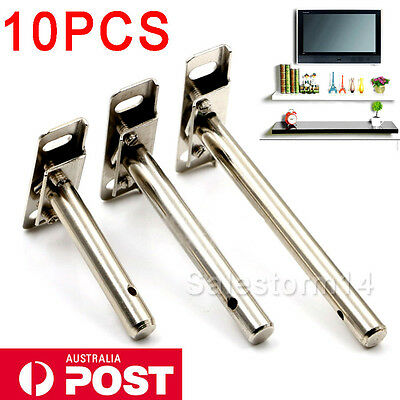 5 Pairs/ 10pcs Concealed Floating Hidden Shelf Support Metal Brackets Heavy Duty