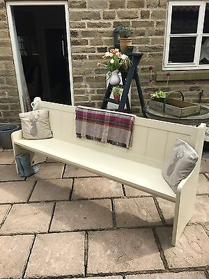 Large cream Painted church Pew/bench