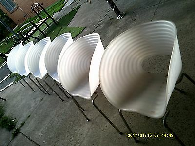 retro look chairs x 6.  indoor/outdoor