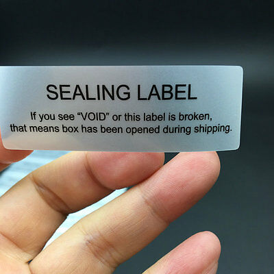 "100PCS~ Security Seal Tamper Proof Void Security Warranty Stickers 2.36"" x 0.79"""