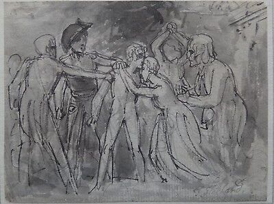 Thomas Stothard 1755-1834 Signed In Pencil Original Antique  Drawing