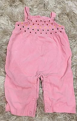 Baby Girls Gymboree Overalls Cord Pink Size 00