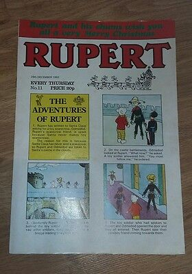 rupert the bear  comic no 11 29th december 1982 Christmas edition daily express