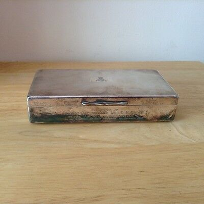 Silver plated vintage Royal Airforce Squadron 213 Box