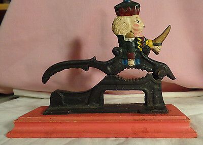 Cast Iron Nut Cracker King With Sword Painted Made In India #1