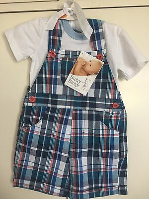 BNWT Baby Boys Overall& TShirt set Size 3-6 months/ 00