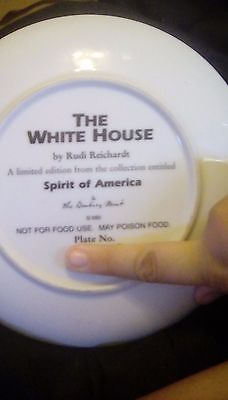 Rudi Reichart spirit of amereica plate. White house with eagle and stand. No box