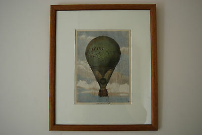 Giant Hot Air Balloon At Paris. Print From Illustrated London News October 1863